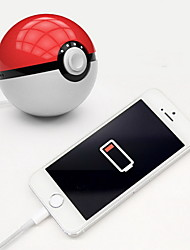cheap -Novelty Newest hot Quick phone Charge Red Ball Power Bank 10000mA Charger With LED Light Mobile game Cosplay Pokemon