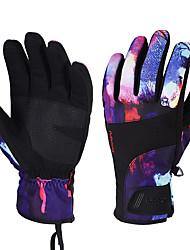cheap -Ski Gloves Men's Women's Snowsports Full Finger Gloves Winter Velvet Flocked Snowsports Winter Sports
