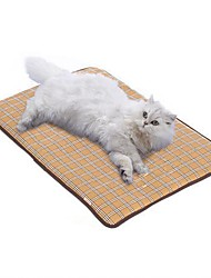 cheap -Dogs Cats Pets Mattress Pad Car Seat Cover Bed Blankets Mats & Pads Cotton Portable Foldable washable Solid Colored Geometric Plaid / Check Light Blue