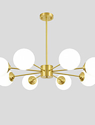 cheap -OYLYW 8-Light 92 cm New Design Chandelier Copper Glass Brass Nature Inspired / Modern 110-120V / 220-240V