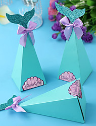 cheap -Taper Shape / Pepper / Mermaid Pearl Paper Favor Holder with Satin Bow Household Sundries / Gift Boxes / Cookie Bags - 20