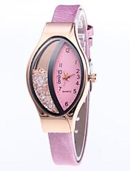 cheap -Women's Quartz Watches Elegant Minimalist Black White Blushing Pink PU Leather Quartz Purple black / silver Peach Thermometer Creative Adorable 30 m 1 pc Analog One Year Battery Life