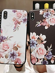 cheap -Case For Apple iPhone XS / iPhone XR / iPhone XS Max Frosted / Pattern Back Cover Flower Soft TPU