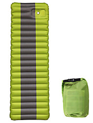cheap -Inflatable Sleeping Pad Air Pad Outdoor Camping Floating Waterproof Portable Padded PVC / Vinyl 190*60*12 cm for 1 person Camping / Hiking Fishing Climbing Autumn / Fall Spring Summer Green Blue Dark