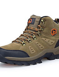 cheap -Men's Sneakers Hiking Shoes Hiking Boots Breathable Non-Skid Comfortable Wear Resistance High-Top Hiking Climbing Cross-Country Autumn / Fall Winter Brown Army Green Grey