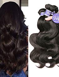 cheap -4 Bundles Brazilian Hair Body Wave Unprocessed Human Hair 100% Remy Hair Weave Bundles Headpiece Natural Color Hair Weaves / Hair Bulk Bundle Hair 8-28 inch Natural Human Hair Weaves Fashionable