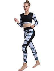 cheap -Activewear Top Pattern / Print Women's Training Performance Natural Elastic Elastane Polyster