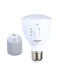 cheap -1pc 6 W LED Globe Bulbs 180-220 lm E26 / E27 24 LED Beads Rechargeable Natural White 85-265 V