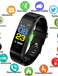 cheap -Men's Digital Watch Quartz Silicone Black / Blue / Red 30 m Water Resistant / Waterproof Smart Bluetooth Analog Outdoor Fashion - Black Red Blue / Chronograph / LCD