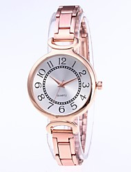 cheap -Women's Quartz Watches Casual Fashion Black Gold Rose Gold Alloy Chinese Quartz Champagne Gold Silver Creative Casual Watch Adorable 30 m 1 pc Analog One Year Battery Life