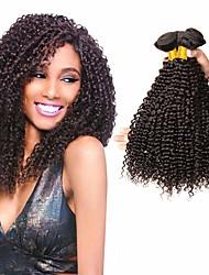 cheap -3 Bundles Brazilian Hair Kinky Curly 100% Remy Hair Weave Bundles 150 g Natural Color Hair Weaves / Hair Bulk Bundle Hair Human Hair Extensions 8-28 inch Natural Color Human Hair Weaves Best Quality