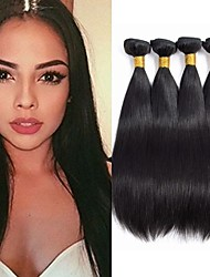 cheap -4 Bundles Hair Weaves Peruvian Hair Straight Human Hair Extensions Remy Human Hair 100% Remy Hair Weave Bundles 400 g Natural Color Hair Weaves / Hair Bulk Human Hair Extensions 8-28 inch Natural