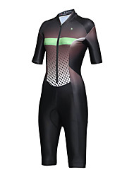 cheap -ILPALADINO Women's Short Sleeve Triathlon Tri Suit Black Dots Gradient Bike Clothing Suit Breathable Sweat-wicking Sports Elastane Dots Mountain Bike MTB Road Bike Cycling Clothing Apparel