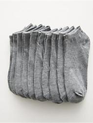 abordables -5 paires Femme Chaussettes Couleur Pleine Soulage le Stress Coton EU36-EU42