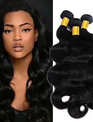 Недорогие -3 Связки Перуанские волосы Естественные кудри Необработанные натуральные волосы 100% Remy Hair Weave Bundles 300 g Человека ткет Волосы Пучок волос Накладки из натуральных волос 8-28 дюймовый