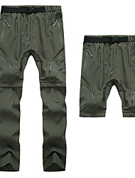 cheap -Men's Hiking Pants Convertible Pants / Zip Off Pants Winter Outdoor Breathable Quick Dry Sweat-wicking Wear Resistance Pants / Trousers Bottoms Hunting Fishing Climbing Army Green Grey Khaki S M L XL