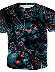 abordables -Tee-shirt Homme, 3D Imprimé Bleu