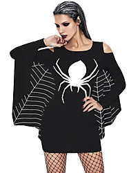 cheap -Bat Cosplay Costume Adults' Female Cosplay Halloween Halloween Carnival Masquerade Festival / Holiday Polyster White / Black Female Carnival Costumes Patterned