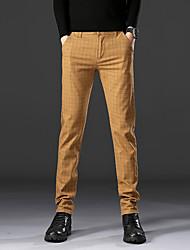 abordables -Homme Basique Costume / Chino Pantalon - Ecossais / à Carreaux Classique Noir Bleu Marine Kaki 34 36 38