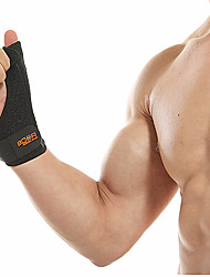 cheap -Hand & Wrist Brace for Running Gym Workout Removable Protection Elasticity Polyester / Polyamide Poly / Cotton Blend Rubber 1 Piece Sports Black