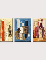abordables -Imprimé Impressions sur toile roulées - Abstrait Célèbre Classique Trois Panneaux Art Prints