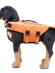 Недорогие -Собаки Спасательные жилеты Одежда для собак Оранжевый Костюм Лабрадор Полиэстер / хлопок Животное Животный принт S M L