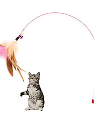 cheap -Feather Toy Interactive Toy Cat 1pc Feathers Down Gift Pet Toy Pet Play