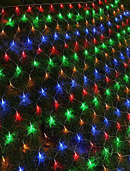cheap -1.5m String Lights 96 LEDs 1 set RGB / White / Blue Waterproof / Creative / Party 110-120 V / IP44