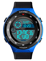 cheap -SKMEI Men's Military Watch Digital Outdoor Military Silicone Black Digital - Black Yellow Blue One Year Battery Life / Water Resistant / Waterproof / Alarm / Calendar / date / day / Chronograph