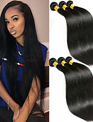 cheap -6 Bundles Indian Hair Straight Remy Human Hair 100% Remy Hair Weave Bundles Headpiece Natural Color Hair Weaves / Hair Bulk Bundle Hair 8-28 inch Natural Color Human Hair Weaves Odor Free Soft Smooth