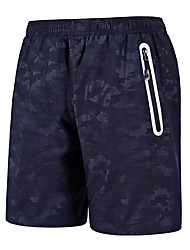 cheap -Men's Hiking Shorts Outdoor Breathable Quick Dry Ventilation Sweat-wicking Shorts Bottoms Camping / Hiking Fishing Hiking Blue Black 4XL 6XL L XL XXL / Wear Resistance / Elastic Waist