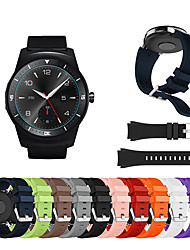 cheap -Watch Band for LG G Watch W100 / LG G Watch R W110 / LG Watch Urbane W150 LG Sport Band / Classic Buckle Silicone Wrist Strap
