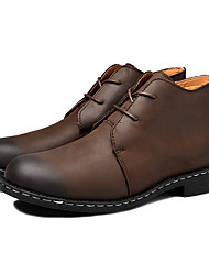 cheap -Men's Leather Shoes Leather / Nappa Leather Spring / Fall Classic / British Boots Non-slipping Black / Brown / Office & Career
