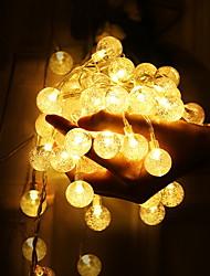 Недорогие -1.5 м хрустальный шар гирлянды 10 светодиодов теплый белый патио украшения свадебные украшения с батарейным питанием 1 компл.