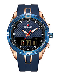 cheap -Men's Sport Watch Quartz Silicone Black / Blue / Clover 30 m Water Resistant / Waterproof Calendar / date / day LED Light Analog - Digital Outdoor Fashion - Green Blue Rose Gold