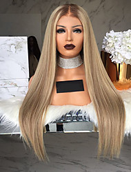 cheap -Synthetic Wig Straight Matte Kardashian Short Bob Middle Part Wig Short Long Medium Brown / Strawberry Blonde Synthetic Hair 26 inch Women's Elastic Party Women Brown