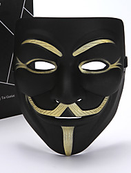 cheap -Cosplay Costume Mask Inspired by V for Vendetta Black White Cosplay Halloween Halloween Carnival Masquerade Adults' Men's Women's