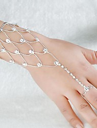 cheap -Women's Ring Bracelet / Slave bracelet Cut Out Precious Sweet Fashion Rhinestone Bracelet Jewelry Silver For Wedding Party Engagement Promise