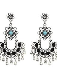 cheap -Women's Drop Earrings Earrings Imitation Diamond Earrings Jewelry Black / Gold / Black / Silver / Gold / White For Street 1 Pair