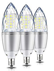 cheap -3pcs 10 W LED Corn Lights 1000 lm E12 T 60 LED Beads SMD 2835 Decorative Warm White 220 V 110 V