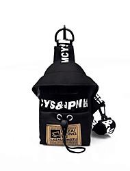 Недорогие -Жен. холст Слинг сумки на ремне Брезентовый чехол Буквы Розовый / Лиловый / Светло-серый / Наступила зима