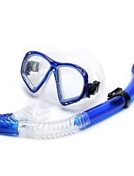 Недорогие -Дайвинг Пакеты - Маска для ныряния шноркель - подводный 400 УФ-защита Дайвинг Водные виды спорта Силикон  Для Взрослые