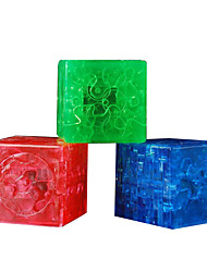 cheap -1 pcs Creative Magic Cube Jigsaw Puzzle 3D Maze Puzzle Box Simple Hand-made Parent-Child Interaction Toy Gift