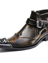 Недорогие -Муж. Fashion Boots Наппа Leather Осень / Наступила зима На каждый день / Английский Ботинки Сохраняет тепло Ботинки Градиент Черный / Офис и карьера / Армейские ботинки
