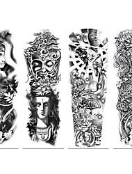 cheap -4 pcs Temporary Tattoos Eco-friendly / Disposable Body / brachium / Back Card Paper