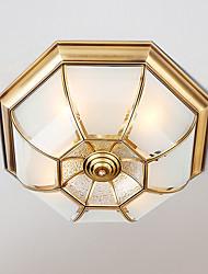 cheap -JSGYlights 4-Light 50 cm New Design Flush Mount Lights Copper Glass Brass Modern 110-120V / 220-240V / E26 / E27