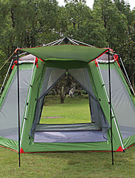 cheap -Hewolf 8 person Family Tent Outdoor Windproof Rain Waterproof Wearable Double Layered Poled Camping Tent >3000 mm for Camping / Hiking / Caving Picnic Oxford Cloth 370*300*230 cm