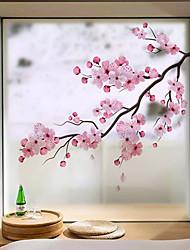 Недорогие -Оконная пленка и наклейки Украшение Современный / 3D Цветы ПВХ Стикер на окна / Антибликовая