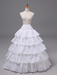 cheap -Bride Classic Lolita 1950s Layered Dress Petticoat Hoop Skirt Crinoline Women's Girls' Tulle Costume White Vintage Cosplay Wedding Party Princess