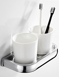 cheap -Toothbrush Holder Creative Contemporary / Modern Brass / Ceramic 1pc Wall Mounted